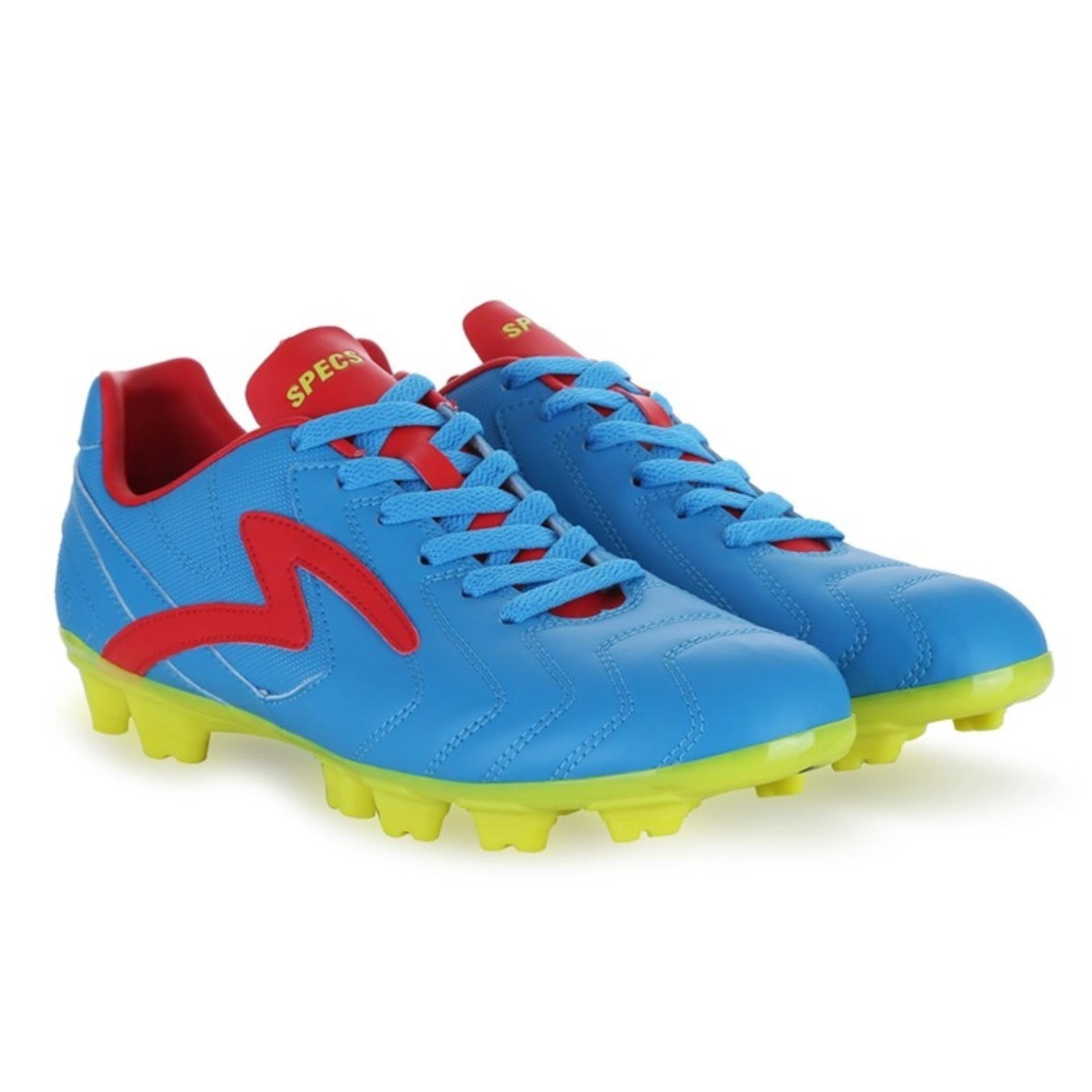 Specs Valor FG Rock Blue True Red Toxic Green   Sepatu Sepak Bola