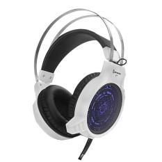 Kecepatan Titanium V7 Headset Komputer Profesional Permainan Game Headset Kafe Internet Berdedikasi Bercahaya Headphone Model Hitam dan Putih (Putih) (Warna: Putih) (Ukuran: AS :)-Internasional