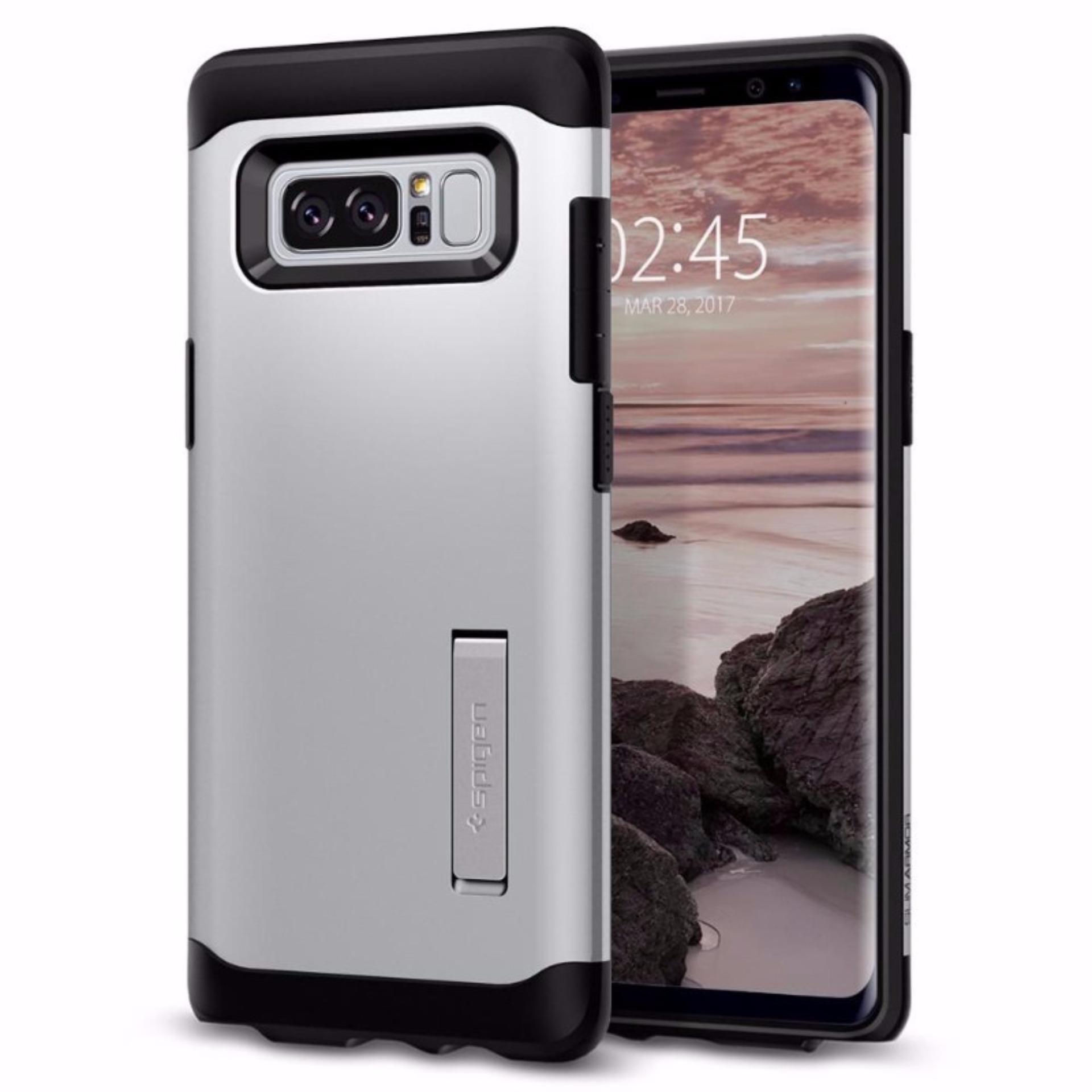 Spigen Samsung Galaxy Note8 Note 8 Case Slim Armor Satin Silver