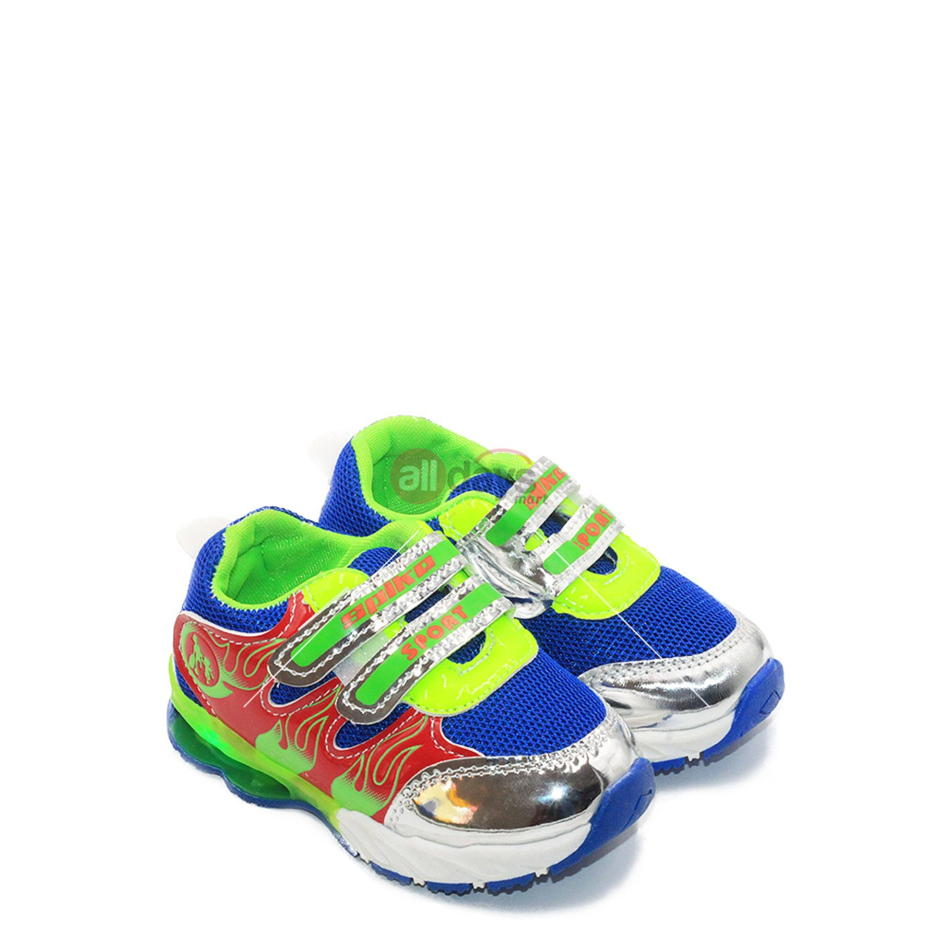 Jual Spike Sepatu Sneakers Anak Laki Laki Led Jkl 5369 Blue Ada Per Di Sol Branded Murah