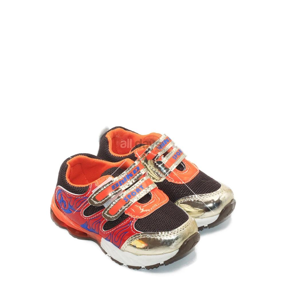 Spike Sepatu Sneakers Anak Laki-Laki LED JKL 5369 - Brown (ada per di sol)