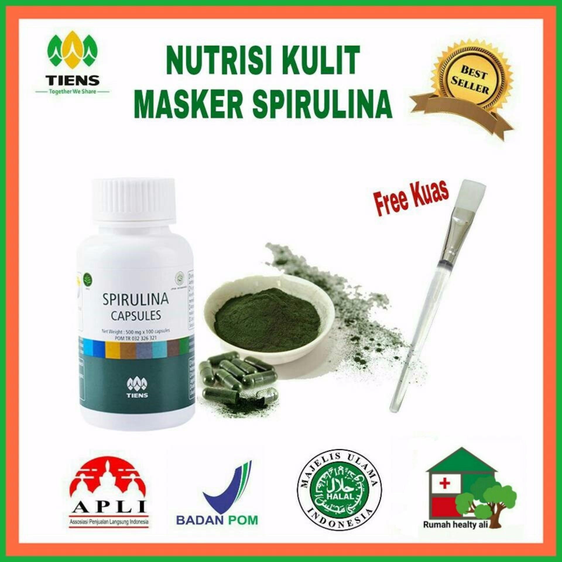 Beli Spirulina Masker Jerawat 25 Kaps Free Kuas Cantik Tiens Supplement Dengan Harga Terjangkau