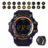 Review Sport Smart Watch Xwatch Ex16 Bluetooth 4 Sync Smart Ponsel Ip67 Waterproof Blacklight Display Pedometer Kebugaran Tracker Smart Gelang Intl