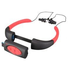 Spesifikasi Sporting Earphone Elegiant Ipx8 Waterproof Fashion Headset Headphone Diving Swimming Underwater Sport Mp3 Player Built In 4Gb Memory (Red Black) Bagus