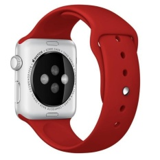 Olahraga Silikon Gelang Tali Band untuk Apple Watch 38mm Merah-Internasional