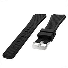 Olahraga Soft Tali Pengganti For Jam Tangan Tali Watchband Gelang Silikon For Samsung GEAR S3 Frontier Klasik Hitam