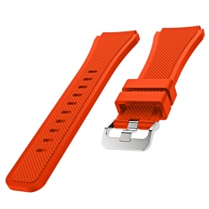Jual Sports Soft Silicone Replacement Watch Band Strap Watchband Wristband For Samsung Gear S3 Frontier Classic Orange Intl Thinch Grosir