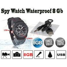 Spy Camera Watch 8Gb Water Proof - Kamera Tersembunyi Model Jam Tangan
