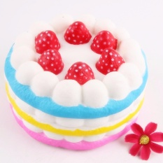 Harga Squishy Strawberry Kue Satunya Lambat Rising Soft Pu 12 Cm X 8 Cm Oem Ori