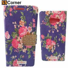 SS Corner Flipcase Flipcover Bunga Mawar Pink For Samsung A310 - PURPLE