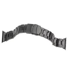 Harga Hemat Stainless Steel Band Tali Untuk Apple Watch 42Mm Bk Intl
