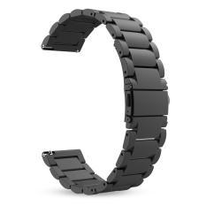 Stainless Steel Metal Penggantian Stainless Steel untuk Samsung Gear S3 Frontier/S3 Classic Smartwatch (Hitam) -Intl