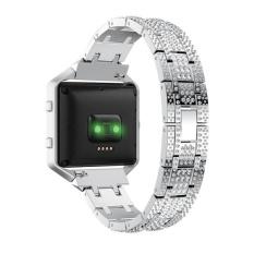 Spesifikasi Tali Pergelangan Tangan Tali Baja Stainless Steel Dengan Berlian Imitasi Band Untuk Fitbit Blaze Smart Fitness Watch Intl Murah Berkualitas