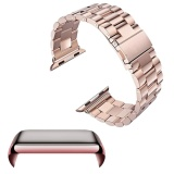 Toko Stainless Steel Replacement Watch Band Strap Accessories Set Pc Plating Anti Scratch Screen Protector Shell With Bumper For Apple Watch Iwatch Series 2 42Mm Rose Gold Intl Online Terpercaya