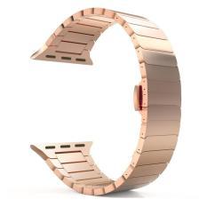Stainless Steel Smart Watch Band Wrist Strap Bracelet Dengan Butterfly Gesper Gesper Untuk Apple Watch 42Mm Intl Oem Diskon 40