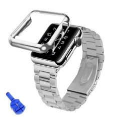 Harga Strap Stainless Steel Band Adapter Case Cover Untuk Apple Watch 42Mm Sl Intl Oem Asli