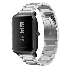 Stainless Steel Watch Band Tali untuk Huami Amazfit Bip BIT PACE Lite Youth Smart Watch Logam Gesper-Intl