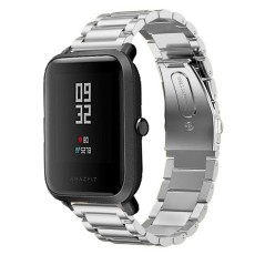 Stainless Steel Watch Band Tali untuk Huami Amazfit Bip BIT PACE Lite Youth Smart Watch Logam