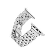 Harga Hemat Stainless Steel Watch Band Strap Metal Clasp Untuk Apple Watch 42Mm Sl Intl