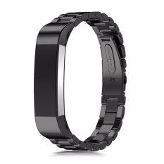 Harga Stainless Steel Wrist Strap Replacement Watch Band Gelang Untuk Fitbit Alta Hr Intl