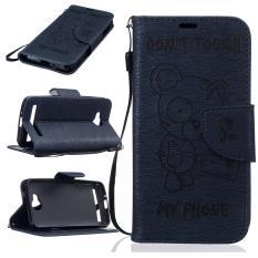Dompet Dompet Dompet Kartu Kredit ID Pemegang Magnetic Flip Folio TPU Lembut Bumper PU Kulit Ultra Slim Fit Case Cover untuk Huawei Y3 II-International