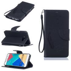 Dompet Dompet Dompet Kartu Kredit ID Pemegang Magnetic Flip Folio TPU Lembut Bumper PU Kulit Ultra Slim Fit Case Cover untuk Samsung Galaxy A5 2016-Intl