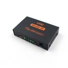 Bintang Ultra HD 4 K 4 Pemisah Lubang HDMI 1X4 Port 3D 1080 P Repeater Amplifier 1 Di 4 keluar HUB HDMI Spesifikasi Uni Eropa Plug-Intl