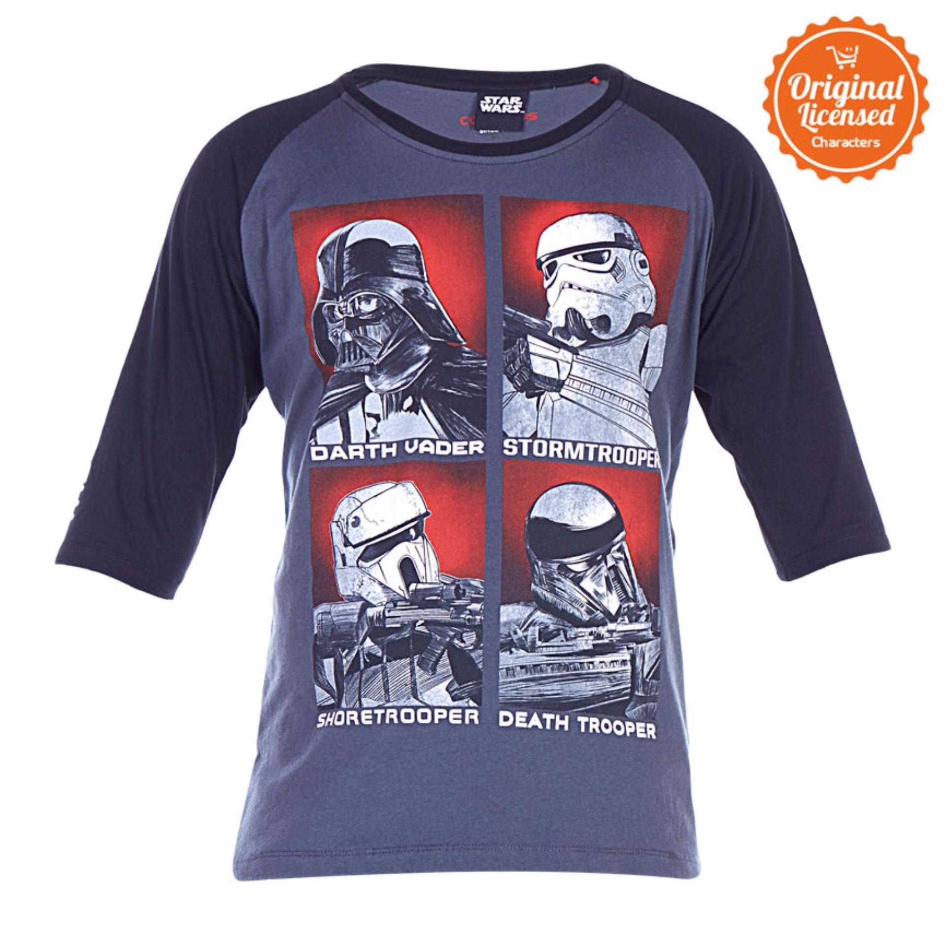 Harga Star Wars Rogue One All Trooper T Shirt Raglan Abu Abu Yang Murah Dan Bagus
