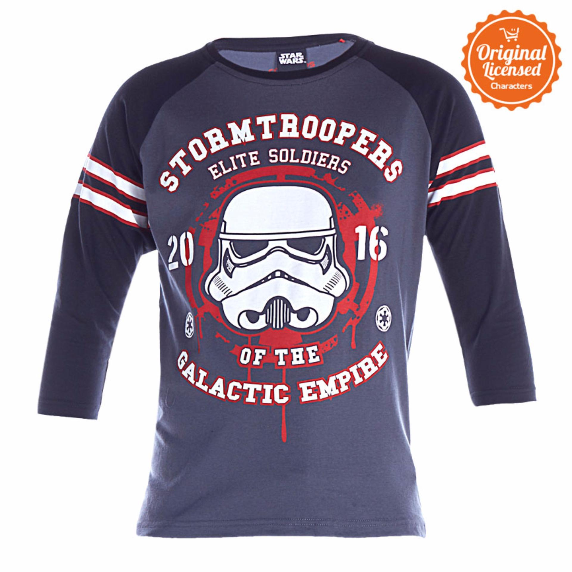 Harga Star Wars Rogue One Stormtrooper Galactic Empire T Shirt Raglan Abu Abu Satu Set