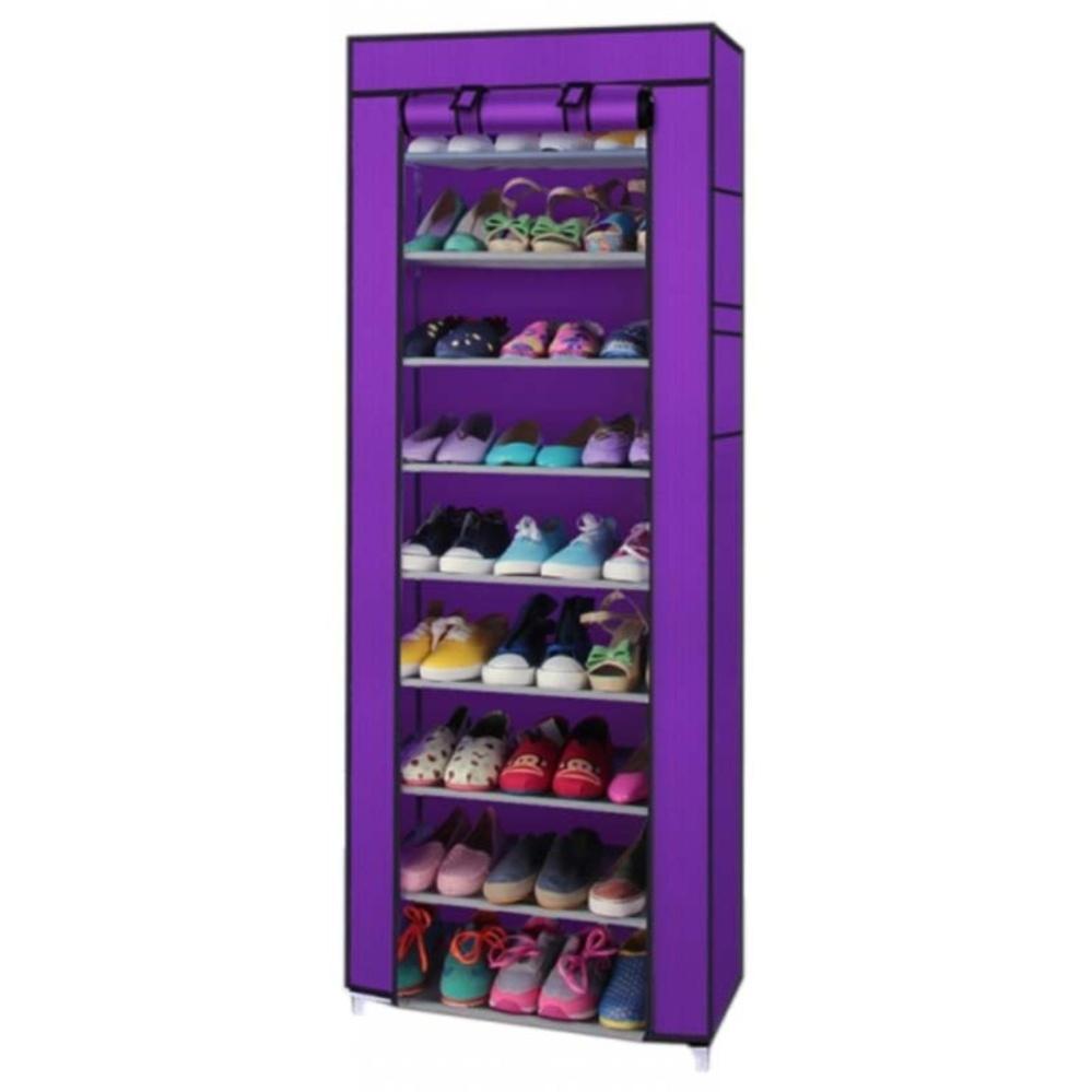 Diskon Starhome Rak Sepatu 9 Susun Dengan Penutup Debu Portable Shoe Rack 9 Layers With Dust Cover Starhome Di Dki Jakarta