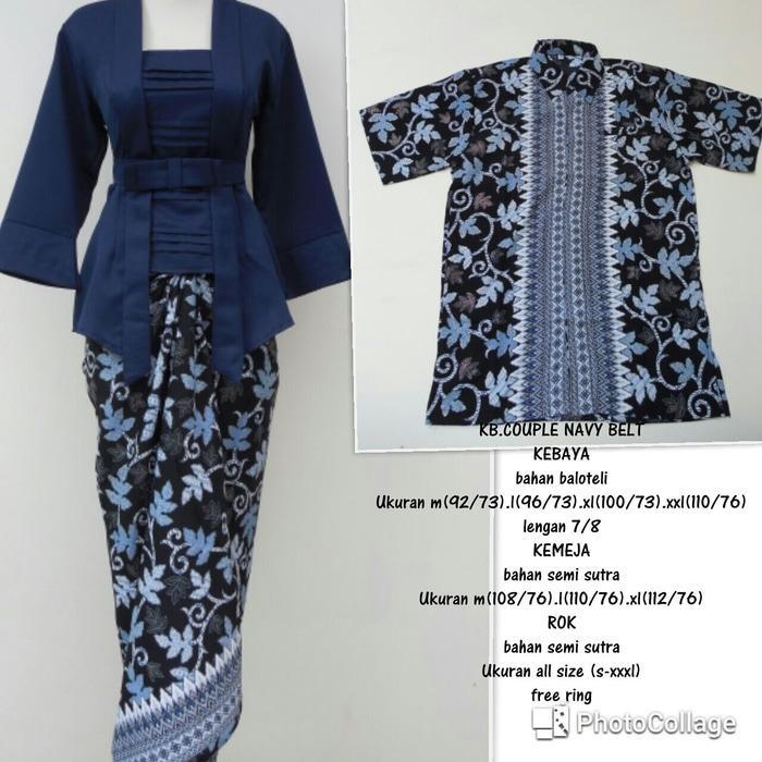 Stelan Couple Baju Batik / Kebaya Modern kutu baru terbaru modern higt quality