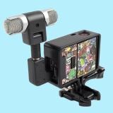 Spesifikasi Stereo Mic Microphone Loudspeaker Side Frame Kit For Gopro Hero 4 3 3 Intl Yg Baik