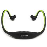 Diskon Headphone Stereo For Pemutar Musik Mp3 Dari Micro Sd Slot Tf Warna Hitam Hijau