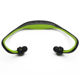 Harga Stereo Sport Headset Headphone Mp3 Music Player Micro Sd Tf Slot Green Original