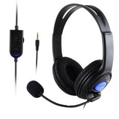 Stereo Wired Gaming Headset Headphone dengan MIC untuk PS4/PC 890-Intl