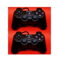 Stick PS2 - PlayStation 2 Soft Button Black (2PCS)