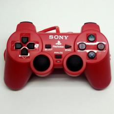 Stik OP Warna PlayStation 2 - PS2 Ori Pabrik Controller Merah