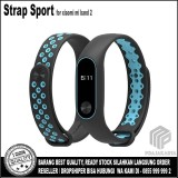 Jual Strap Sport Gelang Pengganti Xiaomi Mi Band 2 Oled Display Black Blue Satu Set