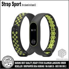 Beli Strap Sport Gelang Pengganti Xiaomi Mi Band 2 Oled Display Black Green Online Murah