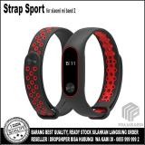 Jual Strap Sport Gelang Pengganti Xiaomi Mi Band 2 Oled Display Black Red Branded Original