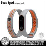 Jual Strap Sport Gelang Pengganti Xiaomi Mi Band 2 Oled Display Grey Orange Lengkap