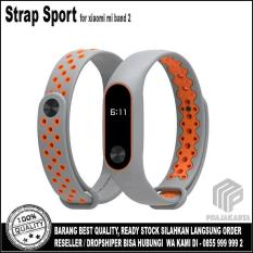 Review Toko Strap Sport Gelang Pengganti Xiaomi Mi Band 2 Oled Display Grey Orange