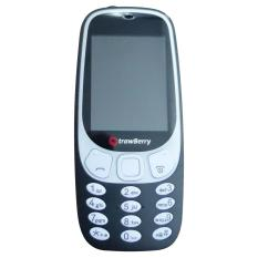 Strawberry Maroko 3310 - Dual SIM - Hitam