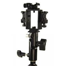 Studiopro Triple Hot Braket Sepatu dengan Soket Payung untuk Flash/Speedlite-Kompatibel dengan Standar Sepatu Panas Canon Nikon Pentax Olympus Unit Lampu Kilat -Intl