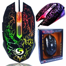 Sturdy GM-038 Gaming Mouse 6D USB with 8 Colors Changing LED FAK1971 - Hitam