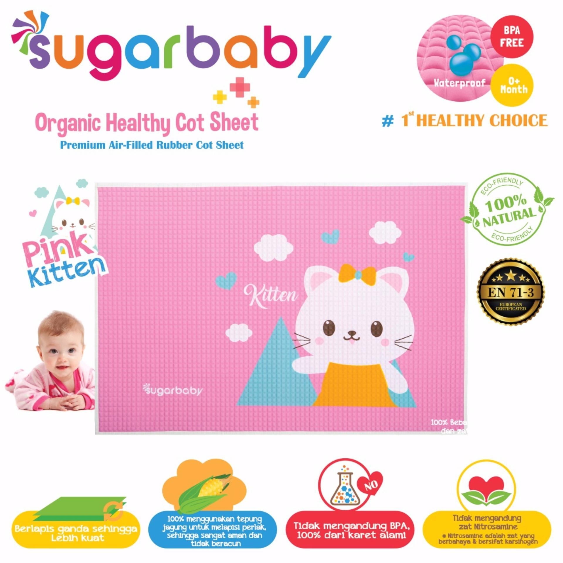 Jual Cepat Sugar Baby Organic Healthy Cot Sheet Perlak Ondo Karet Organik Rubber Mat Alas Ompol Bayi