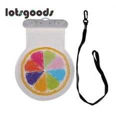 Musim Panas Cute Pola Buah Waterproof 6 InchSmart Telepon Melindungi Pouch dengan Strap (Multicolor)-Intl