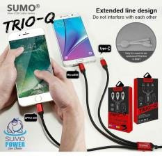 Diskon Sumo 3In1 Kabel Data Trio Q Output 2 4A Fast Charging Cable 3 In 1 Universal Cable Aluminium Shell Iphone Ios Lightning Android Type C Quick Charge Dki Jakarta