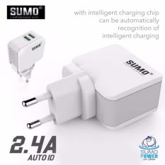 SUMO SC-208 2,4A Dual USB Travel Charger Fast Charging For Samsung Xiao Mi Iphone 2.4 A (GARANSI 1 TAHUN)