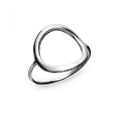 Sungai Island Perhiasan-925 Sterling Silver Indah Wanita atau GirlsOpen Round Ring Ukuran 7-Intl